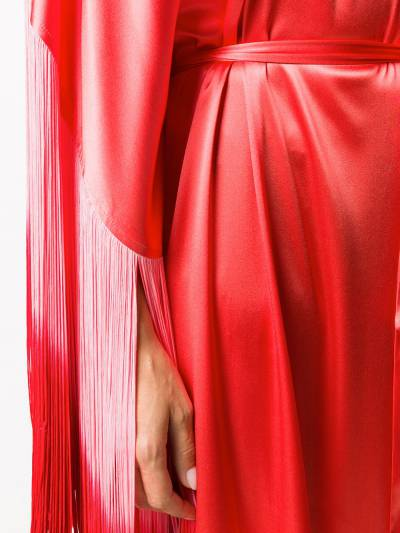 Taller Marmo платье Grenadine с бахромой и эффектом омбре TMSS2027A - 5