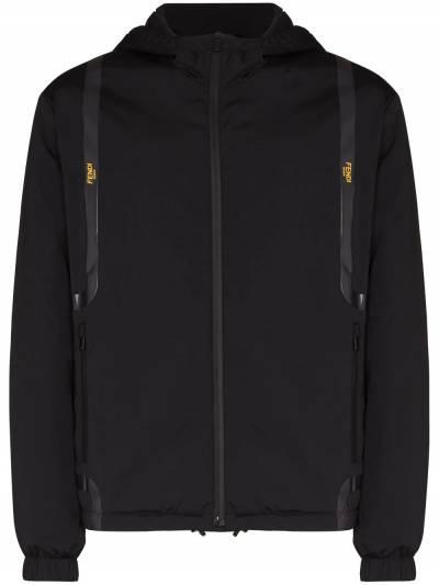 Fendi куртка на молнии с капюшоном и логотипом FAA750AE4S - 1