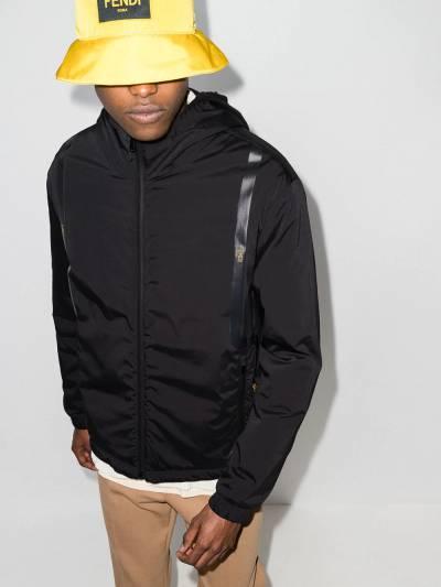 Fendi куртка на молнии с капюшоном и логотипом FAA750AE4S - 2