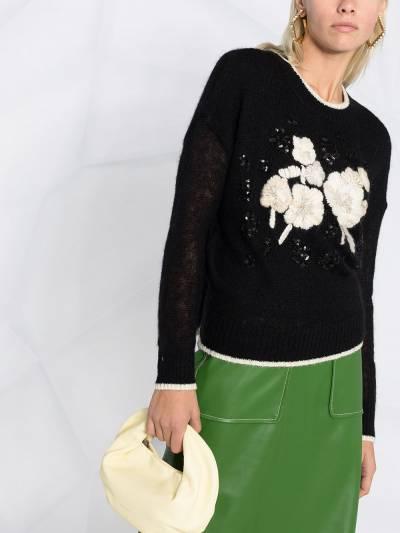 Twin-Set embroidered floral-detail jumper 202TP3430 - 3