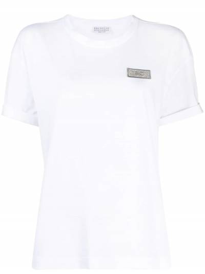 Brunello Cucinelli футболка с нашивкой-логотипом M0A45DG840 - 1