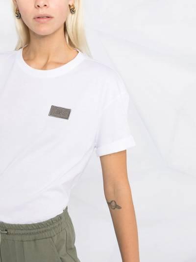 Brunello Cucinelli футболка с нашивкой-логотипом M0A45DG840 - 3