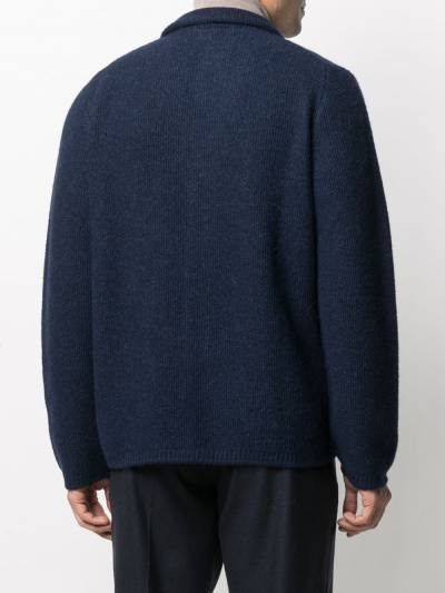 Fedeli V-neck knitted cardigan 3UI080360 - 4
