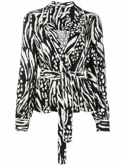 Veronica Beard блузка Clive с зебровым принтом 1911CP0044796 - 1