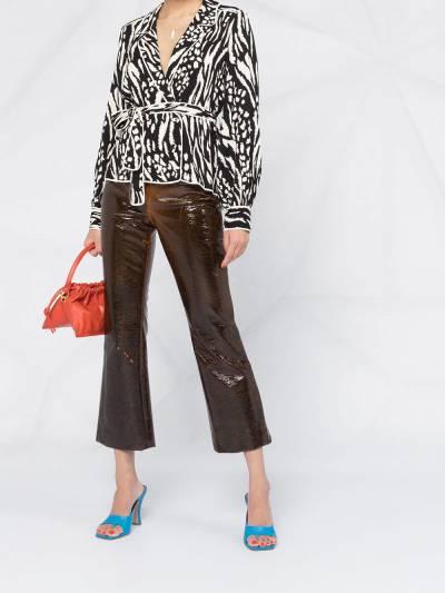 Veronica Beard блузка Clive с зебровым принтом 1911CP0044796 - 2