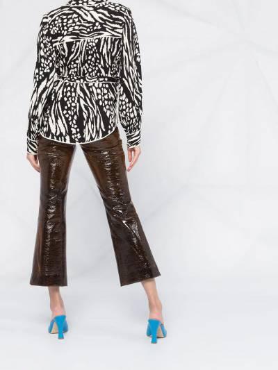 Veronica Beard блузка Clive с зебровым принтом 1911CP0044796 - 4