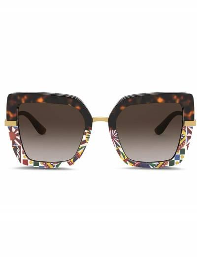 Dolce&Gabbana Eyewear солнцезащитные очки в квадратной оправе с принтом VG437BVP813 - 1