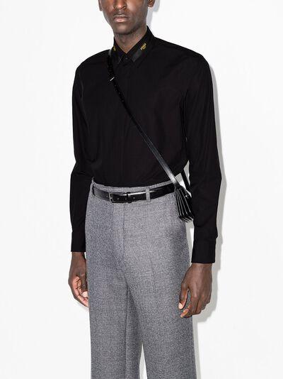 Fendi logo-tape long-sleeve shirt FS0808ADUY - 2