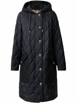 Burberry diamond-quilted mid-length coat 8035506
