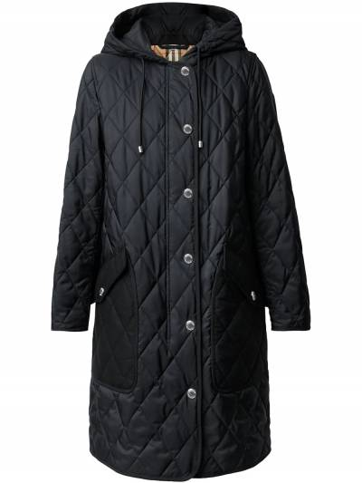 Burberry diamond-quilted mid-length coat 8035506 - 1