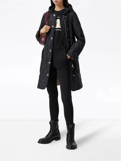 Burberry diamond-quilted mid-length coat 8035506 - 2