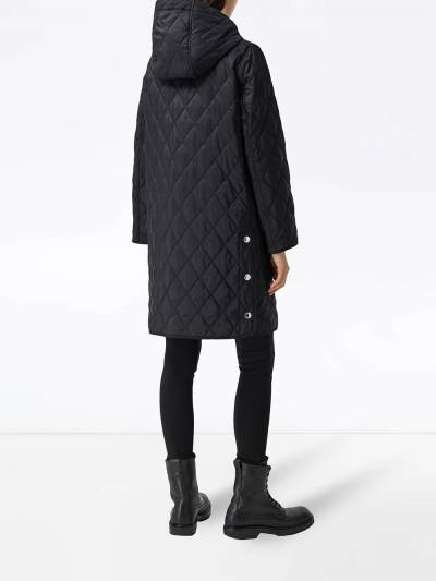 Burberry diamond-quilted mid-length coat 8035506 - 4