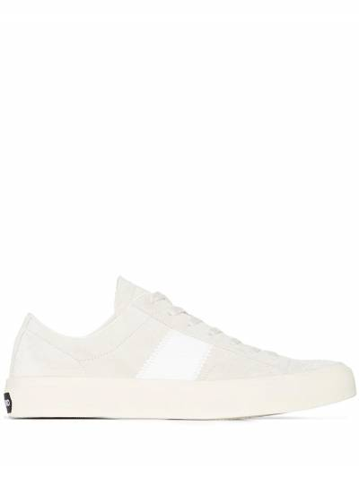 Tom Ford White Cambridge suede sneakers J0974TCRU - 1