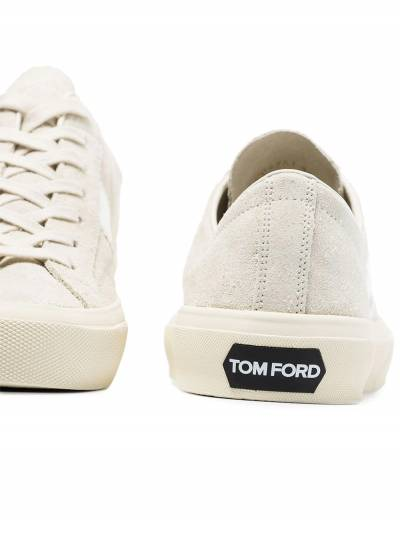Tom Ford White Cambridge suede sneakers J0974TCRU - 2