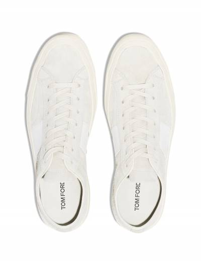 Tom Ford White Cambridge suede sneakers J0974TCRU - 4