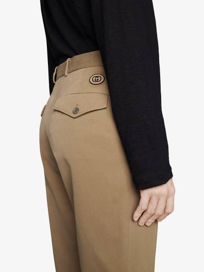 Gucci high-waist tailored trousers 639398ZAF7Y - 5