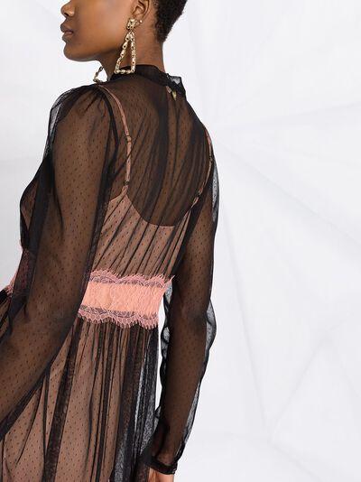 Twin-Set платье с прозрачным верхом и кружевом 202TP2201 - 4