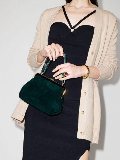 Khaite Green Agnes suede tote bag H2004710 - 2