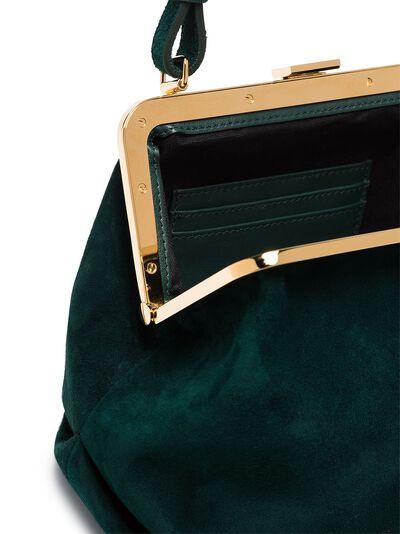 Khaite Green Agnes suede tote bag H2004710 - 5