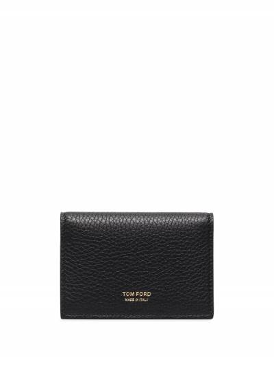 Tom Ford Black Grained Leather Bifold Wallet Y0277TLCL035 - 1