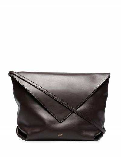Khaite brown Maude large leather cross body bag H3012712 - 1