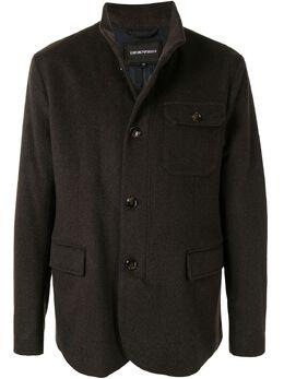 Emporio Armani однобортная куртка с высоким воротником 6H1BD51NYBZ