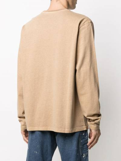 Stussy embroidered logo long sleeve T-shirt 1140217 - 4