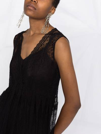 Twin-Set кружевное платье миди 202TP2372 - 5