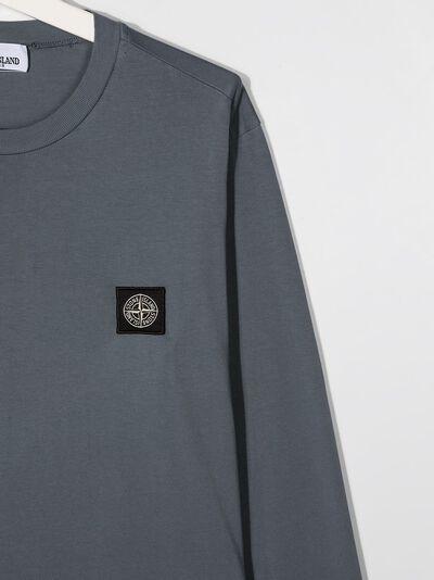Stone Island Junior футболка с длинными рукавами и нашивкой-логотипом 731620447 - 3