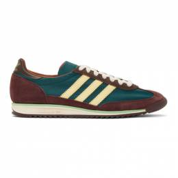 Wales Bonner Green and Brown adidas Originals SL72 Sneakers FX7515