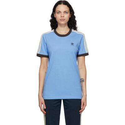 Wales Bonner Blue adidas Originals Edition Logo T-Shirt GQ9382 - 1