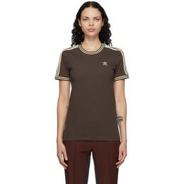 Wales Bonner Brown adidas Originals Edition Stripes T-Shirt GQ9383