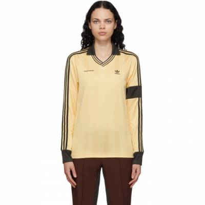Wales Bonner Yellow adidas Originals Edition Football Long Sleeve Polo GL5185 - 1