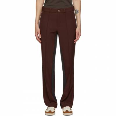 Wales Bonner Burgundy adidas Originals Edition Rock Trousers GM6637 - 1