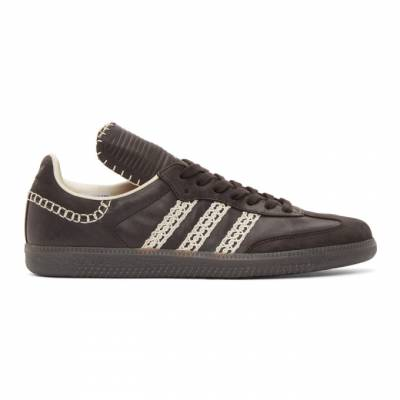 Wales Bonner Black adidas Originals Tongue Samba Sneakers FX7517 - 1