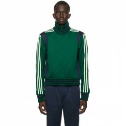Wales Bonner Green and Navy adidas Originals Edition Lovers Track Jacket GL5184