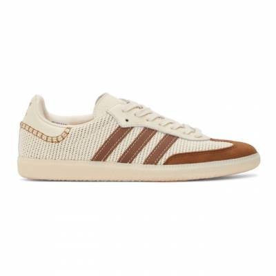 Wales Bonner Off-White and Brown adidas Originals Samba Sneakers FX7720 - 1