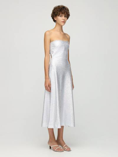 Платье Миди Из Джерси Стрейч Saks Potts 73IRTF010-U0lMVkVSIFNISU1NRVI1 - 2