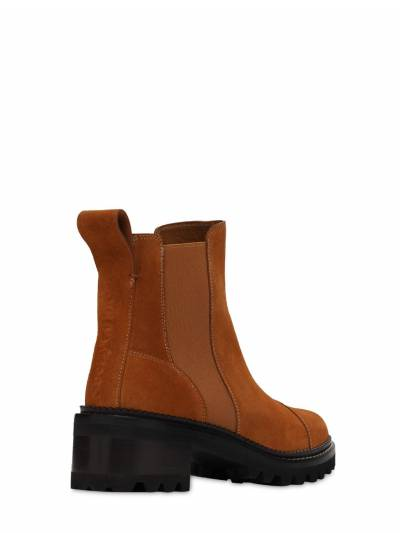 45mm Suede Ankle Boots See By Chloe 73IL4L010-NTgx0 - 2