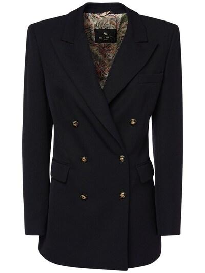 Пиджак Из Шерстяного Габардина Etro 73ID4M082-MDIwMA2 - 1