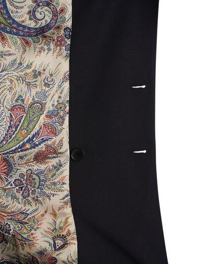 Пиджак Из Шерстяного Габардина Etro 73ID4M082-MDIwMA2 - 4