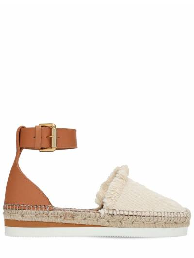 25mm Glyn Leather & Cotton Espadrilles See By Chloe 73IL4L003-MTIw0 - 1