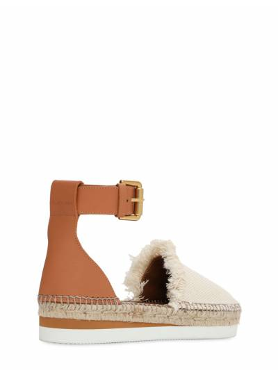 25mm Glyn Leather & Cotton Espadrilles See By Chloe 73IL4L003-MTIw0 - 3