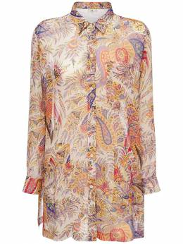 Платье Из Шелка С Карманами Etro 73ID4M027-MDk5MA2