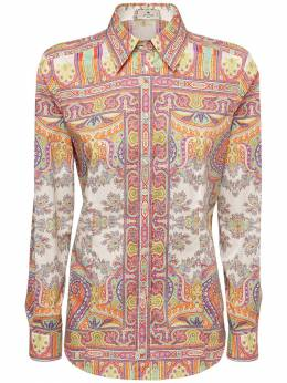 Рубашка Из Хлопка Стрейч Etro 73ID4M015-ODAwMA2