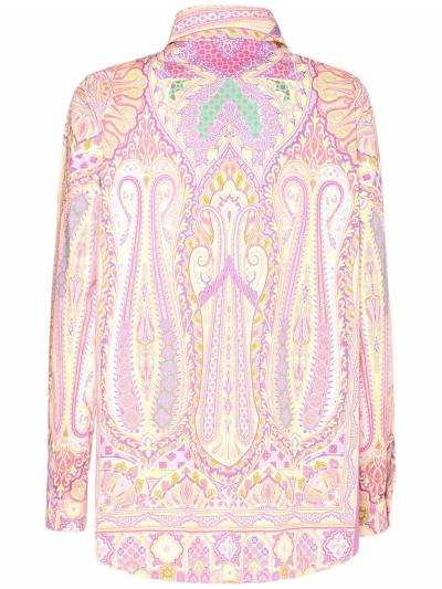 Рубашка Из Хлопка Стрейч Etro 73ID4M009-ODAwMA2 - 3