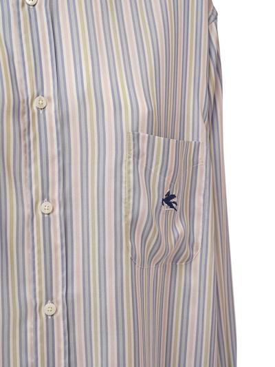 Шёлковая Рубашка-платье Оверсайз В Полоску Etro 73ID4M016-MDI1MA2 - 2