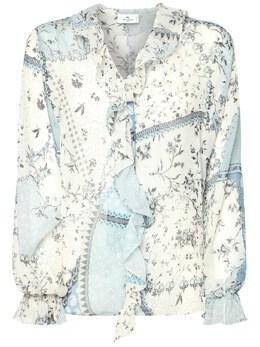 Шёлковая Рубашка С Принтом Etro 73ID4M011-MDI1MA2