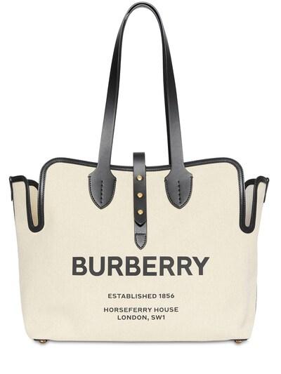 Сумка Из Канвас С Принтом Логотипа Burberry 73ID1H029-QTExOA2 - 1