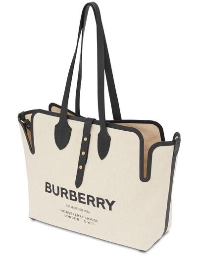 Сумка Из Канвас С Принтом Логотипа Burberry 73ID1H029-QTExOA2 - 2
